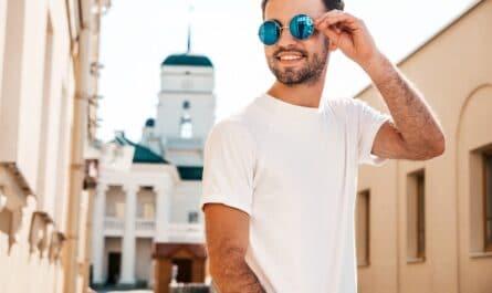 lunettes de soleil rondes pour homme
