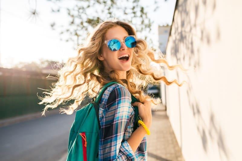 lunettes soleil rondes femme